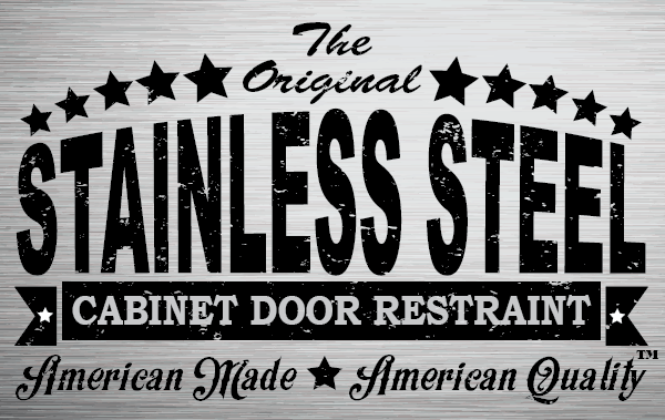 stainless steel cabinet door restraint