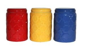 colorful kitchen canister set